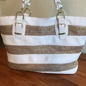 Icing Bags - Icing Tote Bag- White and Gold